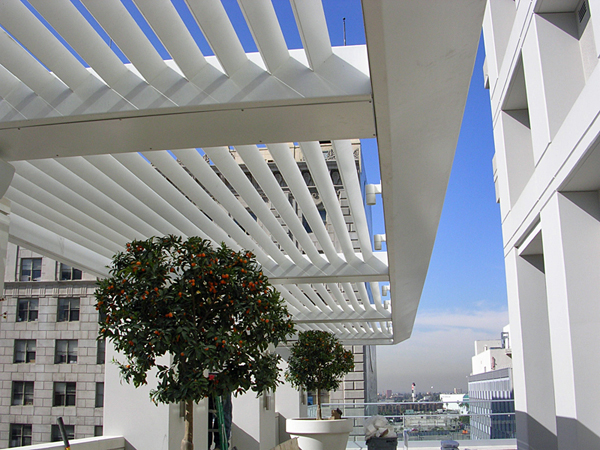 Commercial Patio Sun Shades Aluminum Canopy Structures